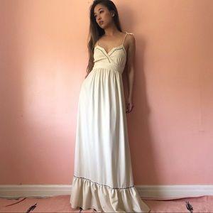 Vintage Rosebud Trim Maxi Dress